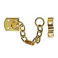 Smith & Locke TT4003 Polished Brass effect Galvanised Steel Door chain, (L)208mm