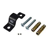 Smith & Locke Black Powder-coated Steel Ground & wall anchor (L)128mm (W)40mm
