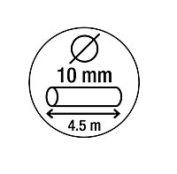 Smith & Locke Black Braided steel Cylinder Security cable, (L)4.5m (Dia)10mm