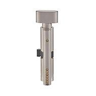 Smith & Locke Nickel effect Brass Euro thumbturn cylinder lock