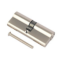 Smith & Locke Nickel effect Brass Euro cylinder lock