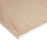Smooth Hardwood Plywood Board (L)2.44m (W)1.22m (T)12mm