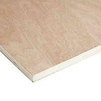 Smooth Hardwood Plywood Board (L)2.44m (W)1.22m (T)18mm
