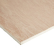 Smooth Hardwood Plywood Board (L)1.83m (W)0.61m (T)12mm