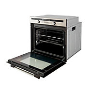Cooke & Lewis CLMFST Grey Electric Single Multifunction Oven