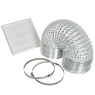 Cooke & Lewis Silver Cooker hood venting kit