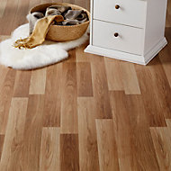 Colours Goldcoast Natural Oak effect Laminate flooring, Sample