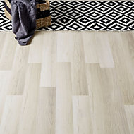 Colours Townsville Grey Oak effect Laminate flooring, Sample