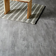 Colours Caloundra Grey Oak effect Laminate flooring, Sample