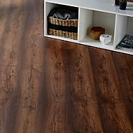 Colours Tamworth Grey Oak effect Laminate flooring, Sample