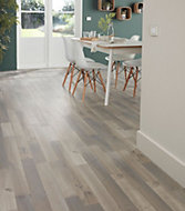 Colours Addington Grey Oak effect High density fibreboard (HDF) Laminate flooring, Sample
