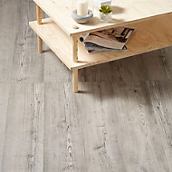 Colours Bailieston Grey Oak effect High density fibreboard (HDF) Laminate flooring, Sample