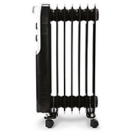 Electric 1500W Black Oil-filled radiator
