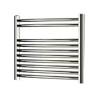 Blyss 176W Chrome Towel warmer (H)500mm (W)550mm