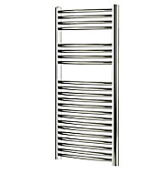 Blyss 304W Chrome Towel warmer (H)1100mm (W)450mm