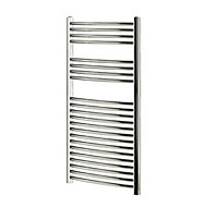 Blyss 382W Electric Chrome Towel warmer (H)1100mm (W)600mm