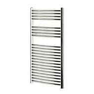 Blyss 382W Chrome Towel warmer (H)1100mm (W)600mm