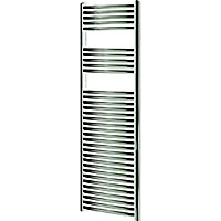 Blyss 449W Chrome Towel warmer (H)1600mm (W)450mm