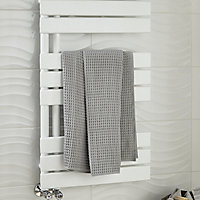 Blyss Boxwood 379W White Towel warmer (H)900mm (W)500mm