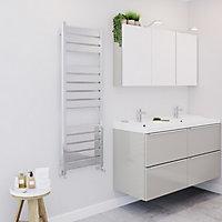 Blyss Ellesmere 309W Chrome Towel warmer (H)1300mm (W)450mm