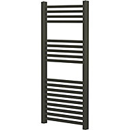 Blyss Pentworth 417W Electric Anthracite Towel warmer (H)974mm (W)450mm