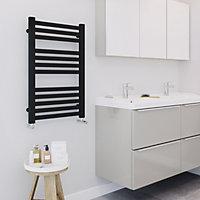 Blyss Aspley 333W Black Towel warmer (H)750mm (W)480mm