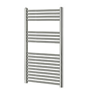 Blyss 349W Chrome Towel warmer (H)1000mm (W)600mm