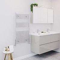 Blyss 349W Chrome Towel warmer (H)1000mm (W)600mm