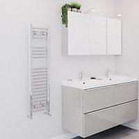 Blyss 230W Chrome Towel warmer (H)1100mm (W)300mm