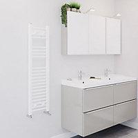 Blyss 319W White Towel warmer (H)1100mm (W)300mm