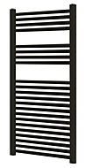 Blyss 489W Matt Black Towel warmer (H)1100mm (W)500mm