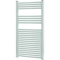 Blyss Leyburn 616W Electric White Towel warmer (H)1200mm (W)600mm