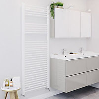 Blyss 816W Electric White Towel warmer (H)1600mm (W)600mm