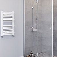 Blyss Sahara 374W Electric White Towel warmer (H)686mm (W)400mm