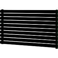 Blyss Wickham Horizontal Designer radiator Anthracite (H)600 mm (W)1200 mm