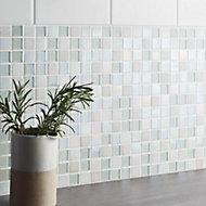 Leccia White Gloss Ceramic Wall tile, Pack of 44, (L)150mm (W)150mm