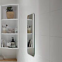 Brindisie White Satin Ceramic Wall tile, Pack of 12, (L)500mm (W)250mm