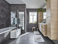 Konkrete Anthracite Matt Concrete effect Ceramic Wall tile, Pack of 14, (L)500mm (W)200mm
