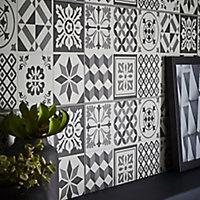 Konkrete Grey Matt Ceramic Wall tile, Pack of 14, (L)500mm (W)200mm