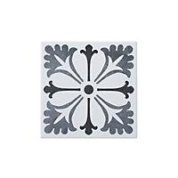 Konkrete Grey Matt Porcelain Floor tile, Pack of 34, (L)200mm (W)200mm