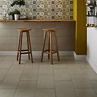 Konkrete Ivory Matt Concrete effect Porcelain Floor tile, Pack of 8, (L)307mm (W)617mm
