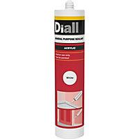 Diall Glazing & frame White General Purpose Sealant 300 ml