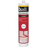 Diall White Silicone-based General-purpose Sealant, 310ml