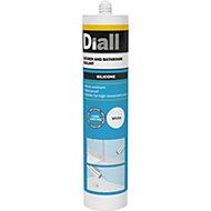 Diall Mould Resistant White Kitchen & Bathroom Sealant 300 ml