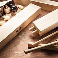 Pine Dowel Moulding (L)2.4m (Dia)35mm