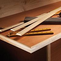 Pine Half dowel Moulding (L)2.4m (W)6mm (T)21mm