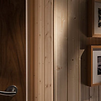 Smooth Pine Angled edge Moulding (L)2.4m (W)13mm (T)13mm