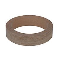 Light oak effect Edging tape, (L)5m (W)18mm
