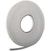 Diall PVC & foam Self adhesive Draught seal, (L)6000mm