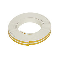 Diall White Self-adhesive Draught seal (L)6m